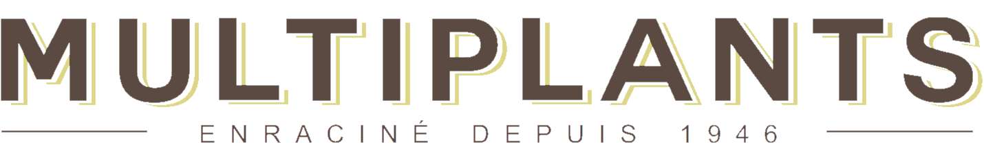 Logo Multiplants (francais) white
